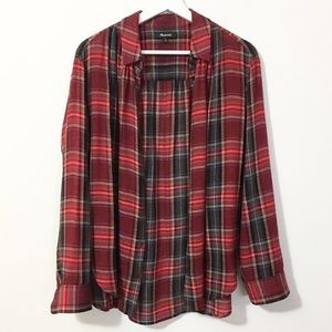 Madewell Central Long Sleeve Plaid Button Up